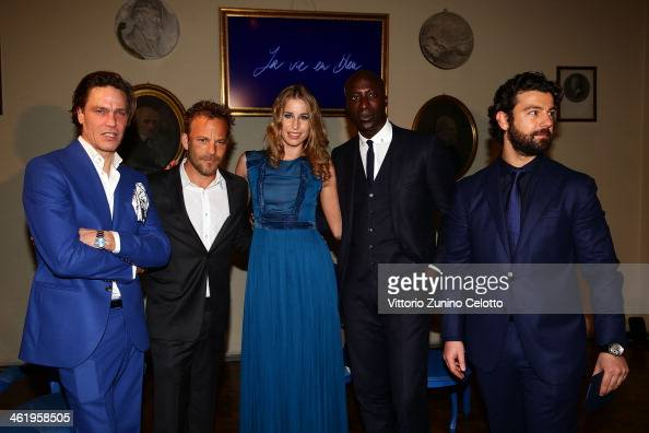 Bugatti Head of Brand Promotion Alessandro Carnicella Elke Palmaers Stephen Dorff Andre Van Noord and guest attend the Bugatti and L'Uomo Vogue 'The...