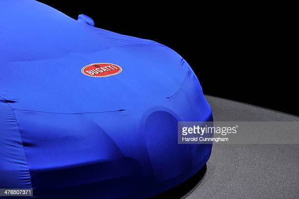 Bugatti is prepared ahead of the opening day of the 84th International Motor Show which will showcase novelties of the car industry on March 3 2014...