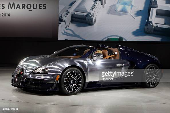 Bugatti is presented at the Volkswagen Group Night show prior to the opening of the Paris Motor Show on October 1 2014 in Paris France The Paris...