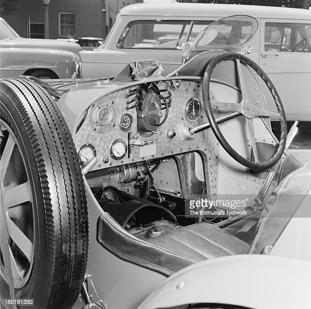 Bugatti Type 35B Grand Prix Car Photographed in front of Otto Zipper's Precision Motor Cars service area in Santa Monica California