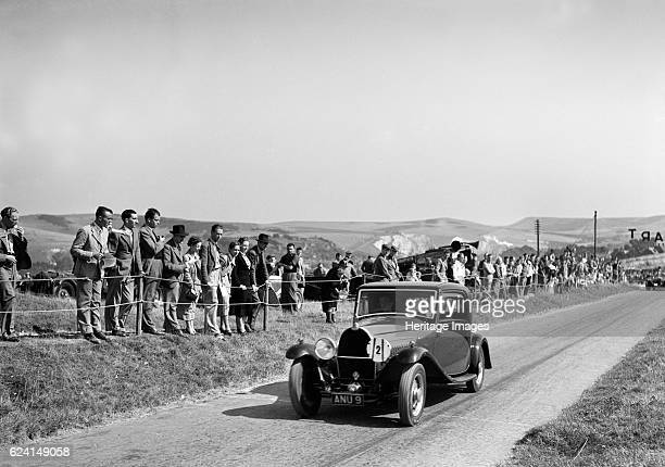 Bugatti Type 49 of CWP Hampton at the Bugatti Owners Club Lewes Speed Trials Sussex 1937 Artist Bill BrunellBugatti Type 49 Fixed head James Young...