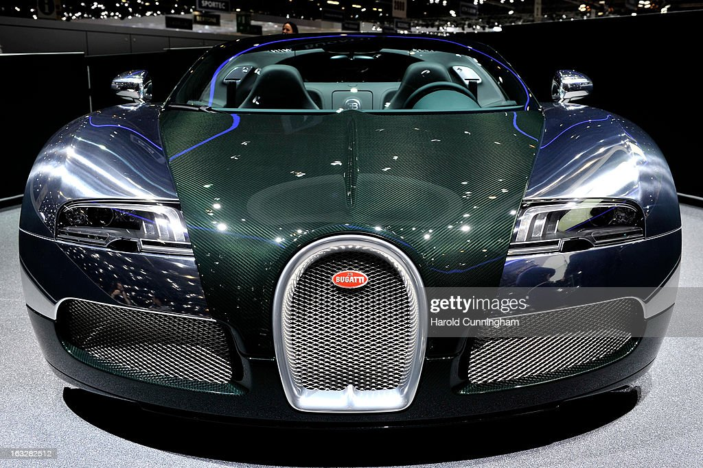 A Bugatti Veyron Grand Sport is seen during the 83rd Geneva Motor Show on March 6, 2013 in Geneva, Switzerland. Held annually with more than 130 product premiers from the auto industry unveiled this year, the Geneva Motor Show is one of the world's five most important auto shows.