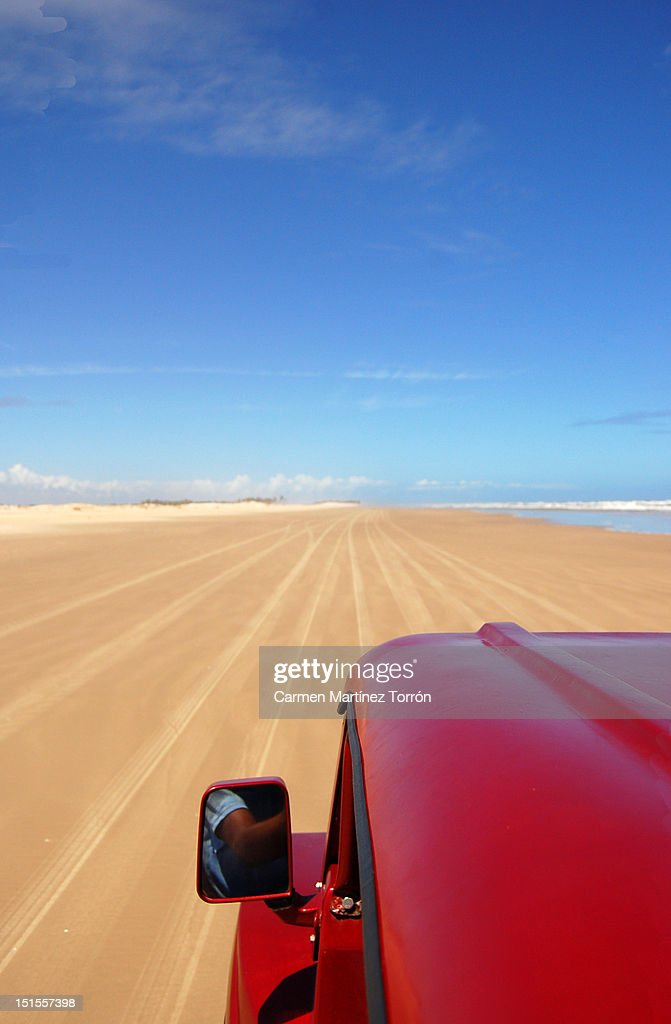 Buggy car on road : Stock Photo