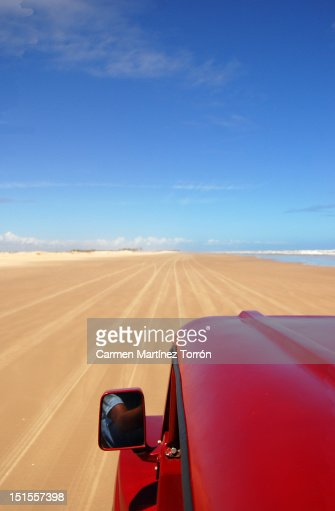 Buggy car on road : Foto de stock