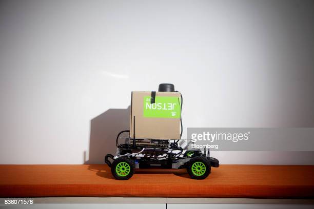A buggy designed by students at the Sinovation Ventures' AI Institute DeeCamp summer camp is arranged for a photograph at the venture's headquarters...