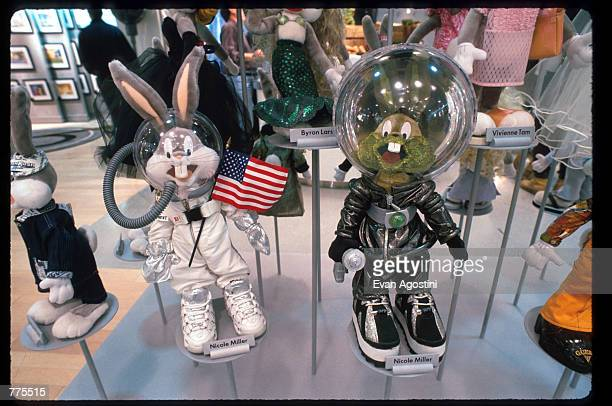 Bugs Bunny wears an astronaut suit at the Warner Bros Studio store October 23 1996 in New York City The store originally a three floor specialty...