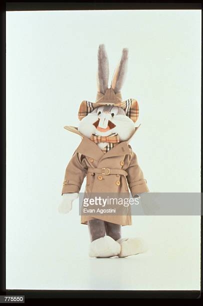 Bugs Bunny wears designer clothing by Burberry's at the Warner Bros Studio store October 23 1996 in New York City The store originally a three floor...