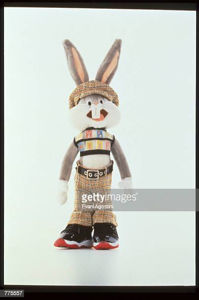 Bugs Bunny wears designer clothing by Matsuda at the Warner Bros Studio store October 23 1996 in New York City The store originally a three floor...