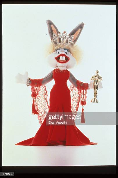 Bugs Bunny wears designer clothing by Nolan Miller at the Warner Bros Studio store October 23 1996 in New York City The store originally a three...