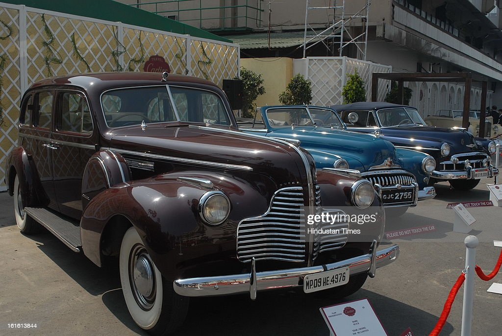 Buick 1940 90L Limited Vintage car taking part in Third Cartier Travel With Style Concours D'Elegance Vintage car show at 2013 Taj Lands End on February 10, 2013 in Mumbai, India.