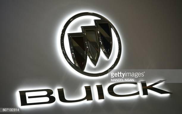 A Buick logo is seen at the 2016 Washington Auto Show on January 27 2015 in Washington DC / AFP / Mandel Ngan