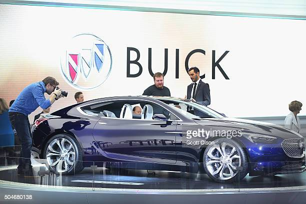 Buick shows off the Avista concept at the North American International Auto Show on January 12 2016 in Detroit Michigan The show is open to the...