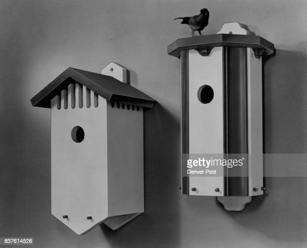 Build Either or both of these attractive birdhouses designed with removable bottoms for easy cleaning from pine boards and molding Send 50 cents for...