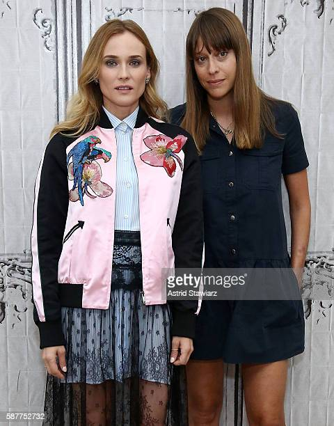 AOL Build presents actress Diane Kruger and filmmaker Alice Winocour to discuss their new film 'Disorder' at AOL HQ on August 9 2016 in New York City