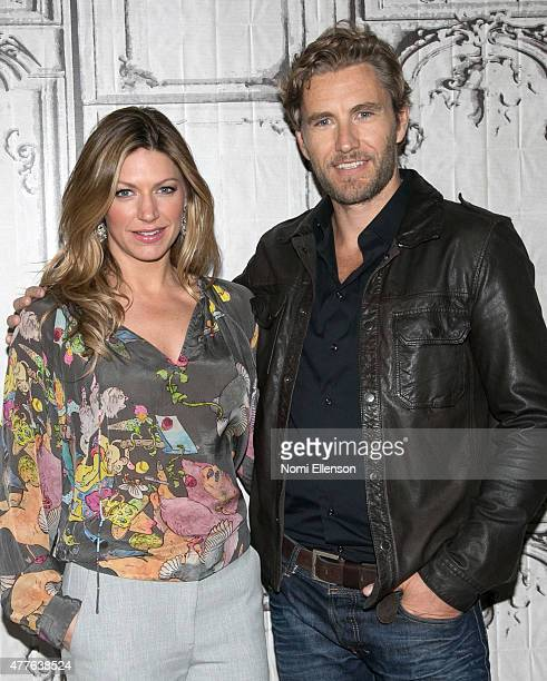 Build presents Jes Macallan and Brett Tucker as they discuss the ABC show 'Mistresses' at AOL Studios In New York on June 18 2015 in New York City