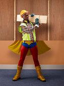 Builder top, super hero bottom