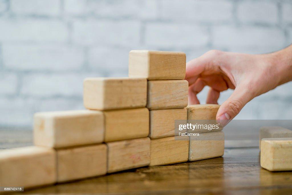 Building a 3D Graph : Stock Photo