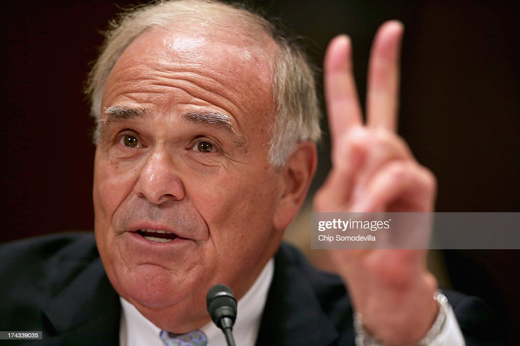 Building America's Future Co-Chairman and former Pennsylvania Gov. <a gi-track='captionPersonalityLinkClicked' href=/galleries/search?phrase=Ed+Rendell&family=editorial&specificpeople=2445310 ng-click='$event.stopPropagation()'>Ed Rendell</a> testifies before the Joint Economic Committee during a hearing about on fixing America's crumbling infrastructure on Capitol Hill July 24, 2013 in Washington, DC. The committee heard a variety of proposed solutions to the nation's serious infrastructure problems, including public-private partnership and increased government spending.
