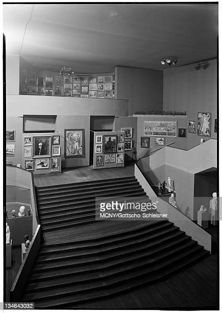 Building Art Gallery Sculpture Gallery stair case looking down RCA Building