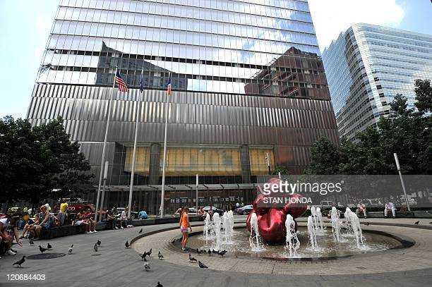 Building at 7 World Trade Center where the rating agency Moody's Invester Services Inc is located August 8 2011 in New York US President Barack Obama...