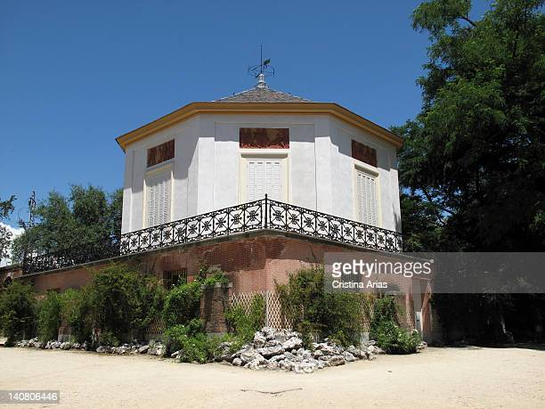 Building called the Casino Dance inside The Capricho Park is a hexagonal structure made by the architect Lopez Aguado and decorated with mirrors and...