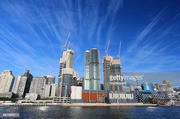 Building construction at Barangaroo South on September 11 2015 in Sydney Australia Barangaroo Reserve is Sydney's newest Harbour foreshore park...