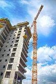 Construction Industry, Construction Site, Building - Activity, Construction Frame, Concrete