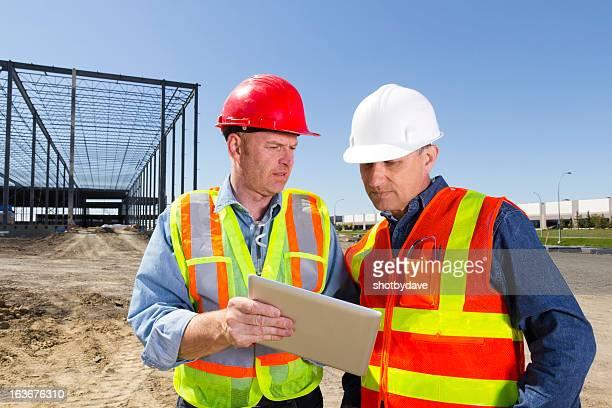 Bauunternehmer und Computer