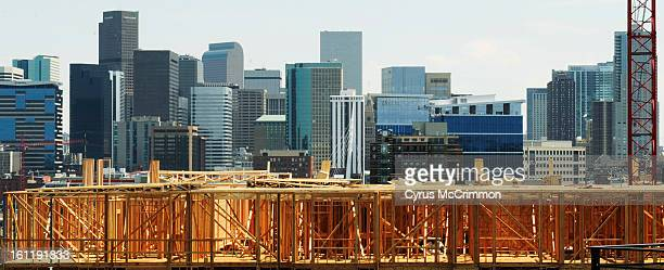 Building Denver one 2x4 at a time The skyline of Denver rises from a new construction project along Boulder Street in the LoHi neighborhood on...