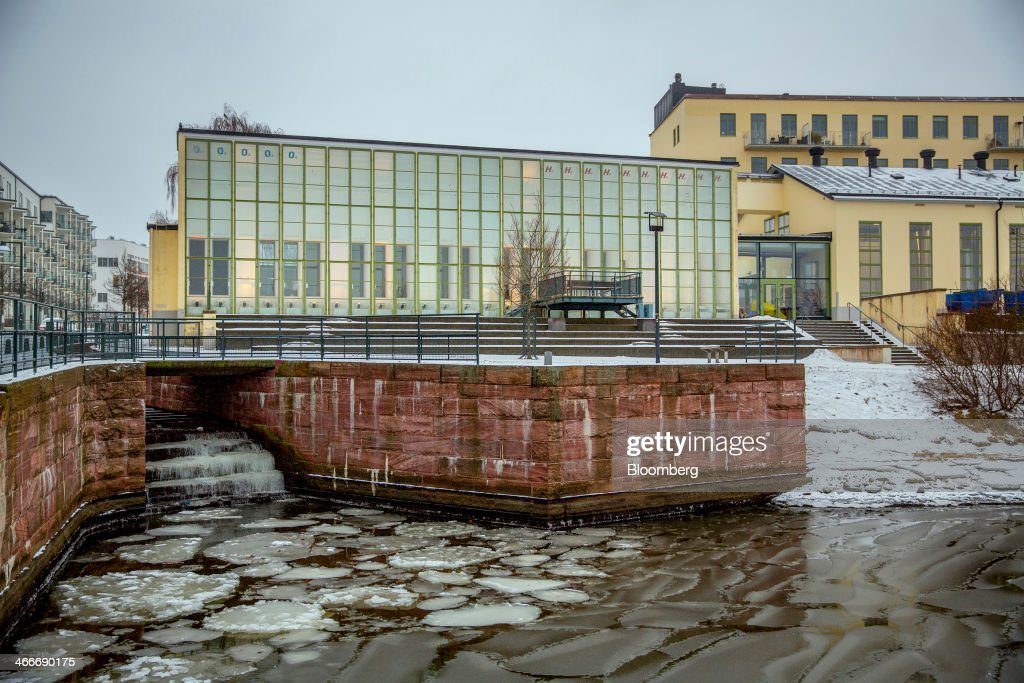 A building destined to become a restaurant stands near a river bank at the 'New Carnegie Brewery,' also known as Nya Carnegibryggeriet, operated by Brooklyn Brewery Corp. in collaboration with D. Carnegie & Co., the Swedish unit of Carlsberg A/S, stands in Stockholm, Sweden, on Friday, Jan. 31, 2014. Brooklyn has teamed up with the Swedish unit of Carlsberg A/S, D. Carnegie & Co. and a few private investors to create 'The New Carnegie Brewery,' with an annual capacity of 1 million liters. Photographer: Casper Hedberg/Bloomberg via Getty Images