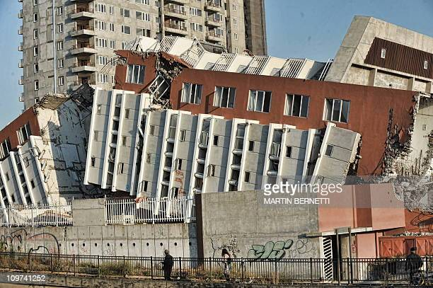 STORYA building destroyed by an earthquake one year ago in Concepcion some 500 km south of Santiago on February 7 2011 The massive earthquake that...