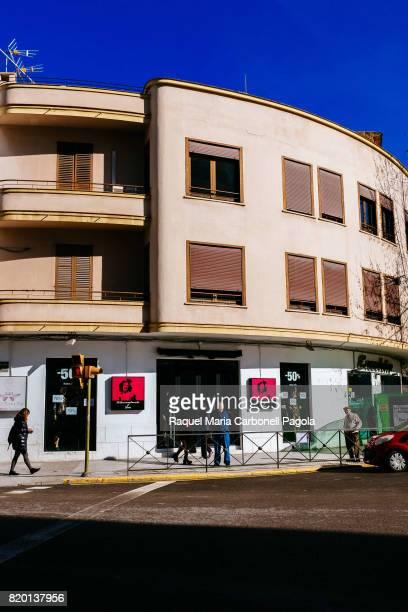 Building exterior at the beginning of the famous 'Vara de Rey' promenade