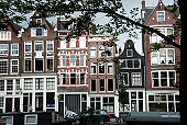 Building exteriors in Amsterdam, Holland