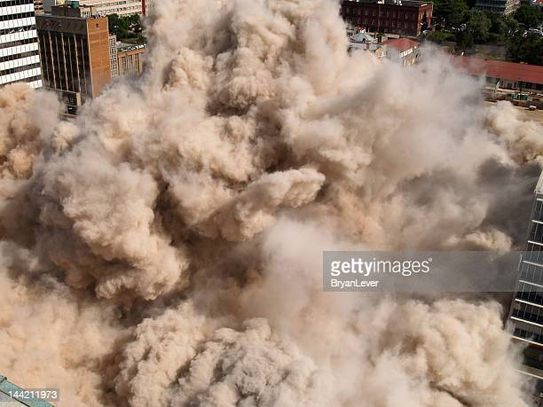 Building implosion in downtown Johannesburg, South Africa