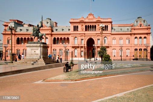 A building in Casa Rosada in Buenos Aires, Argentina