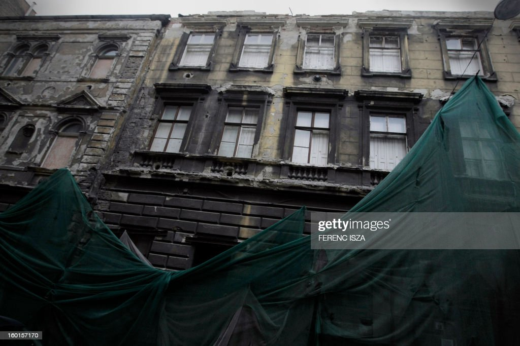 A building in Kazinczy street, the former Ghetto and home of 40 000 Jews during WWII in Budapest, Hungary is pictured on January 27, 2013, the International Holocaust Memorial Day to commemorate the victims of the Nazi regime.