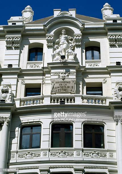 Building in the Gran Via Madrid Detail Spain