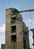 Building in the process of being demolished