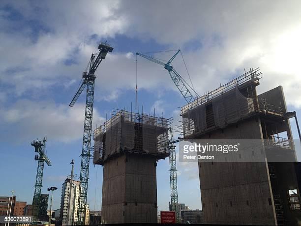 Building industry Retail Development In Leeds City centre uk