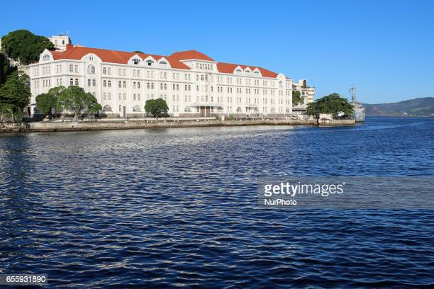 Building of the Arsenal of the Brazilian Navy in Rio de Janeiro Early fall in Rio de Janeiro Brazil is marked by a sunny day with pleasant...