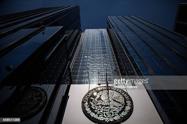 Building of the Attorney General's Office is seen on November 6 2014 in Mexico City Mexico during a demonstration to ask for justice for the 43...