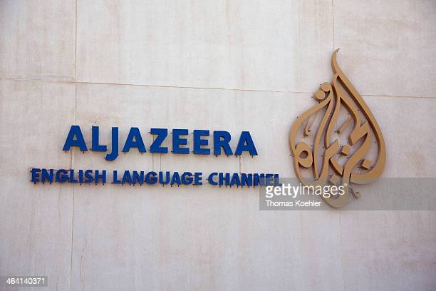 Building of the headquarters of the broadcaster Al Jazeera on June 05 in Doha Qatar Photo by Thomas Koehler/Photothek via Getty Images