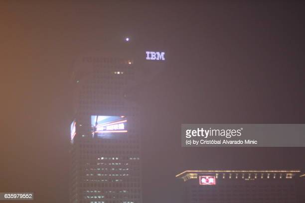 IBM Building Screened By Heavily Polluted Air