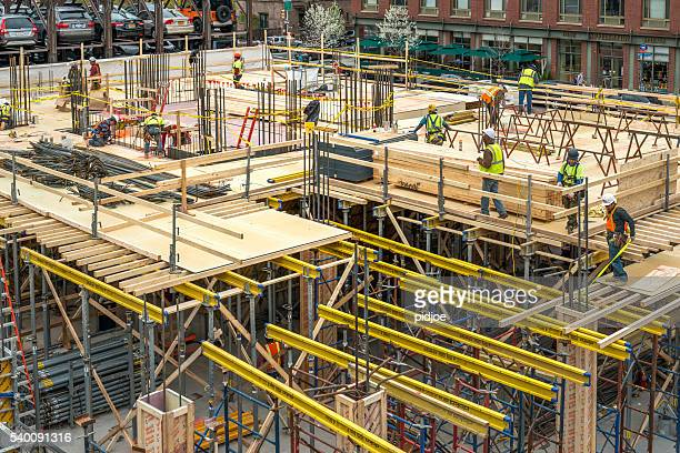 Building site in New York, Manhattan.