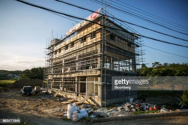 A building stands under construction in Ulju Ulsan province South Korea on Thursday Aug 31 2017 South Korea has the worlds sixthlargest nuclear...