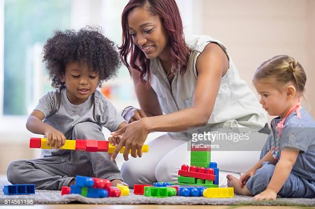 Bâtiment Tours avec des blocs en plastique