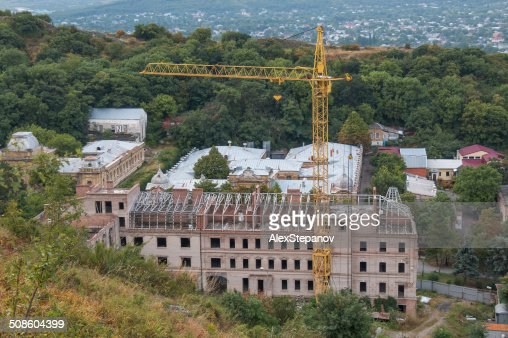 Building under construction in the highlands : Stock Photo