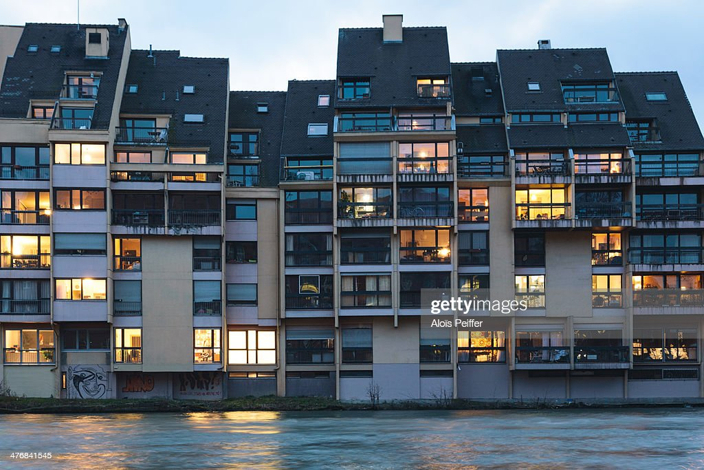 Building with light from windows