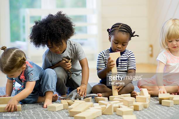 Building with Wood Blocks