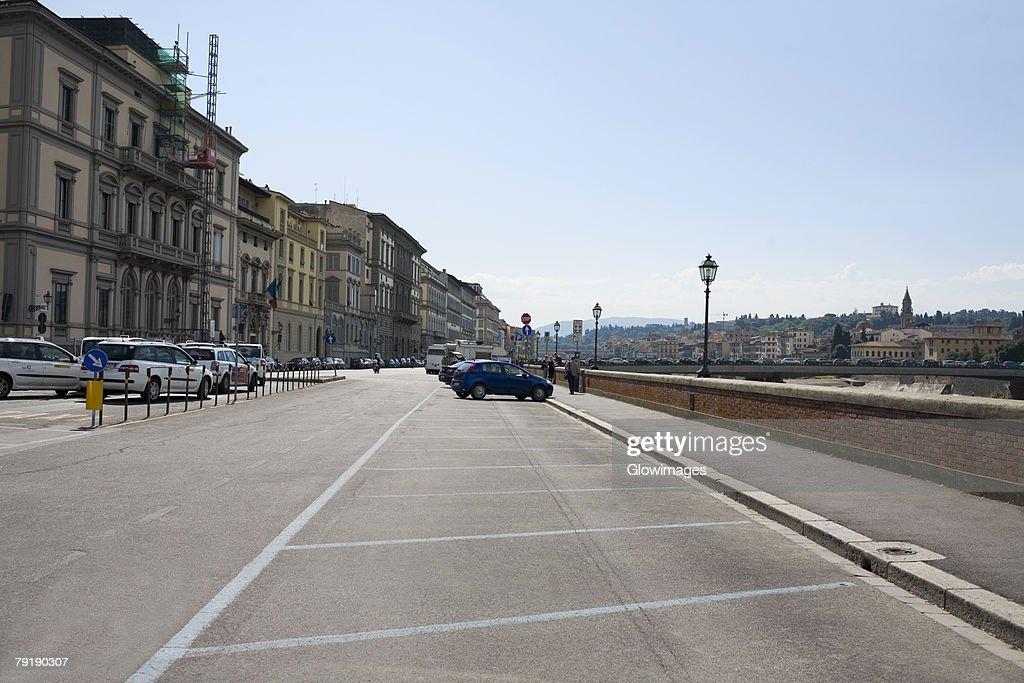 Buildings along a road, Florence, Italy : Foto de stock
